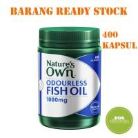 Jual Nature's Own Odourless Fish Oil Omega 3 1000mg 400 kapsul Murah
