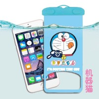 Sarung Hp Anti Air (Doraemon) / Iphone 6 Plus Waterproof Bag