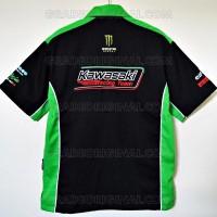 Harga new produk kemeja bordir otomotif moto gp kawasaki racing team | Pembandingharga.com
