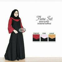 Jual diskon Dress murah / Setelan hijab : Flare Set Murah