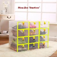 Hot Item Shoes Box EMOTICON (Kotak untuk tempat sepatu dan sandal)