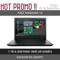 Lenovo Laptop Gaming AMD A8 15ACL RADEON R5/1TB/4GB RAM GARANSI RESMI