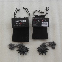 Necklace Pendant The Witcher Wild Hunt Medallion Black Set1
