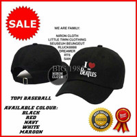 Jual TOPI BASEBALL I LOVE THE BEATLES K6 -  TOP PRODUCT 1988 Murah