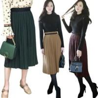 Jual New Celine Pleated Skirt(#692)/Rok Midi/Rok kerja Keren Murah