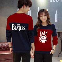 Jual [Cp Beatles Maroon LT] sweater couple babyterry maroon Murah