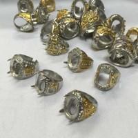 Murah Cangkang Cincin Titanium Kombinasi Import