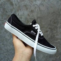 SEPATU VANS ERA BLACK WHITE PREMIUM IFC FULL TAG BARCODE MADE IN CHINA