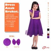 Dress Anak UNGU Import Branded OZORA Brukat Berkualitas Murah