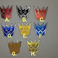 Jual JUAL MURAH emblem transformer / transformers decepticon Murah