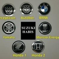 Jual JUAL MURAH emblem logo velg transformers BMW monster energy suzuki ya Murah