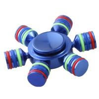 (Sale) Brass Rainbow Fidget Spinner Finger Hexagonal with Metal Box