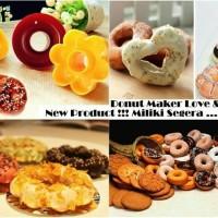 Jual Cetakan Donat Plastik Love and Flower / Donut Maker 1pcs Murah