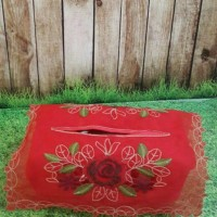 Jual Sarung tissu bordir - Tutup tissu bunga - gkm set Murah