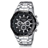Jual CURREN Watch Jam Tangan Analog Pria MK6 Silver Black Perak Hitam Murah