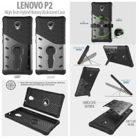 Lenovo P2 Turbo High Tech Hybrid Rotary Kickstand Case Casing Armor