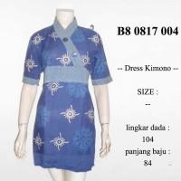 Jual Discount 45% dres batik krah kimono/fashion wanita batik/ b80817004 Murah