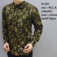 harga Baju Batik Kemeja Pria Slimfit Cb 253 - Slim Fit Keren Tokopedia.com