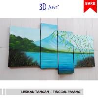 Jual Hiasan Dinding 3D - Lukisan Pemandangan Bambu - CANDRA 1 Murah