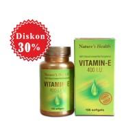 harga Nature's Health Vitamin E 400 Iu | Kesehatan Kulit, Kesuburan Wanita Tokopedia.com