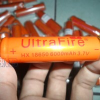 Baterai UltraFire Batre 18650 3.7V 6000mAh Button Top BRC Battery