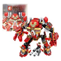 Mainan blok lego Robot Hulkbuster SEMBO BLOCKS MK16 339PCS - 60001