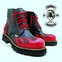 Jual  sepatu boots pichboy underground safety touring adventure la T0210 Murah