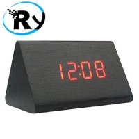 Jual  LED Digital Wood Clock  JK828  Black T1310 Murah