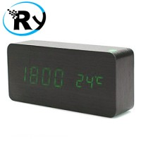 Jual  LED Digital Wood Clock  JK858  Black T1310 Murah