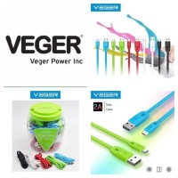 Kabel Data VEGER Fetuchinne Gepeng MICRO USB 1Meter Good Quality