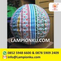 Supplier Lampion Bulat Motif Unik MURAH