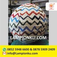 Distributor Lampion Bulat Gantung Motif MURAH Solo