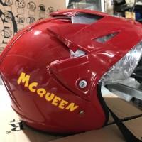 Helm Half Face Anak Cars / Mobil / Animasi / Mc Queen