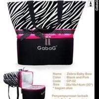 Tas Bayi GABAG COOLER BAG - ZEBRA BABY BOW
