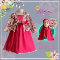 Baju Muslim Anak | Gamis LaBella Tutu Kebaya Merah SB1-TV-0913