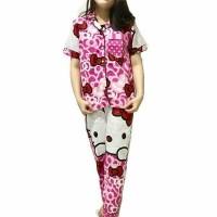 Jual Piyama Pajamas Kitty Ribbon  Long Pants Murah