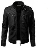 Jual Jaket kulit sintetis/semi kulit pria casual model GGS Elegan Murah