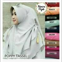 Jual hijab poppy tassel Murah