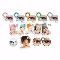 SOFTLENS N8 BABY BIG EYES GREY DIAMETER 16MM MATA NORMAL