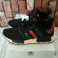 9c59a532c5c8e ADIDAS NMD R1 X GUCCI REAL BOOST 100% UA PERFECT QUALITY Black White