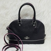 Jual Coach Mini Sierra Black Multi Leather. Tas Coach Original Murah