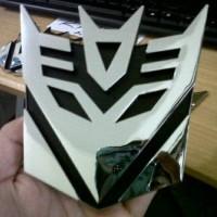 Jual Emblem / Logo Transformers Decepticon Chrome Berkualitas Murah