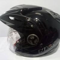 Helm NHK Aviator solid black / hitam
