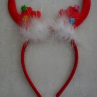 Jual Bando natal christmas tanduk rusa bulu putih Murah