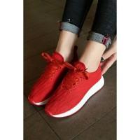 Jual PTO08S Sepatu Wedges Import / Sepatu Sneakers Wanita Import Murah