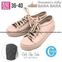 Jual Bara Bara Sepatu Jelly Sneakers Silikon Shoes Cewek Silicone Kets 6380 Murah