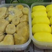 Jual paket hemat durian kupas medan + pancake Maidanii isi 10 Murah