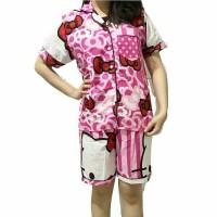 Jual Piyama Pajamas Kitty Ribbon  Short Pants Murah