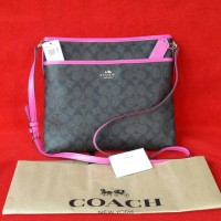 Jual New With Tag, Coach F23866 Signature File Bag coated canvas Murah