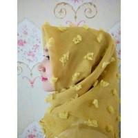 Jual segiempat linen rubi premium scarf Murah
